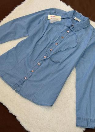 Рубашка джинсовая новая papaya