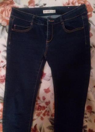 Темно-синие зауженные джинсы cache cache