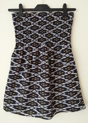 Мини платье сарафан 100% хлопок aztec принт