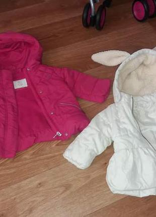 Н&м милая курточка с ушками зайчика