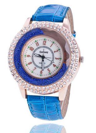 Часы наручные синие новые годинник жіночий