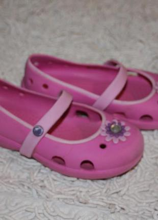 Кроксы балетки crocs оригинал размер с 11 17,5-17,8 см по стельке