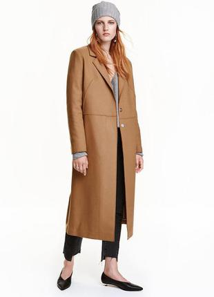 Пальто из шерсти h&m
