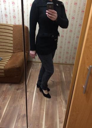 Черная мохеровая кофта-туника, свитер primark