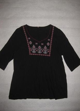 14-16 р-р, блузка туника с вышивкой, вышиванка