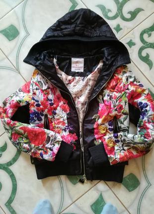 Курточка с цветочным принтом