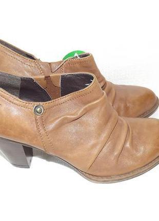 Ботильоны туфли закрытые кожа roberto santi 36,38 размер