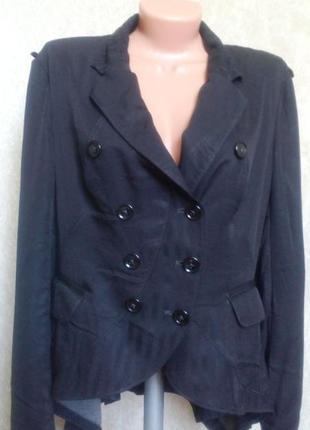 Пиджак*жакет черный классический! италия!