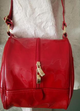 Vip!!!шикарная лаковая сумочка  vera pelle