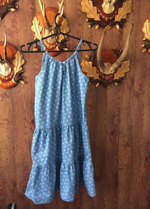 Сарафан платье летнее gap на девочку 10-11 лет, хлопок,цветочный принт