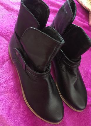 Новые натуральная кожа ботинки
