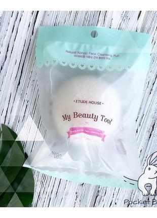 Спонж-конняку etude house natural konjac face cleansing puff