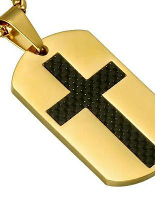 Оригинальное украшение колье цепочка кулон крест . бижутерия .