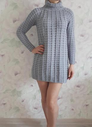 Вязаное платье туника. размер универсальный.