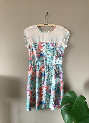 Платье house цветочный принт