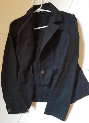 Пиджак жакет джинсовая куртка черная