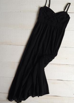 Красивое и женственное платье в пол,чёрного цвета!