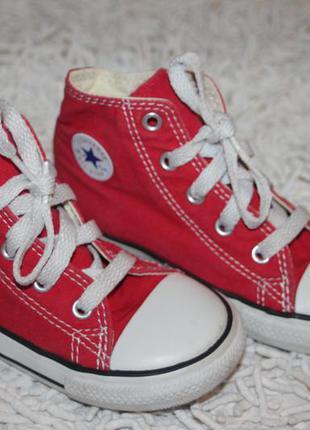 Красные кеды converse all star оригинал размер 9 на 25 16,3 см по стельке b2c6ac886b6