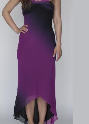 Вечернее малиновое брендовое платье cache размер xs