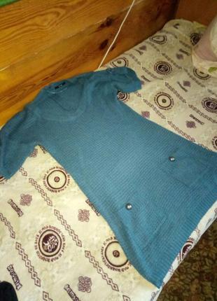 Отличное теплое вязаное платье-туника от george