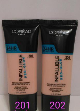 Тональный крем для лица l'oreal infallible pro-glow 24hr new!