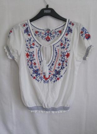 Рубашка-блуза вышиванка p/10 (см.замеры)