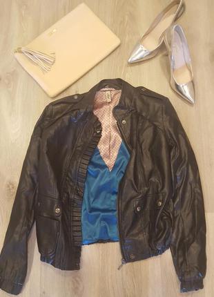 Поделиться:  куртка косуха из кожзама andre tan