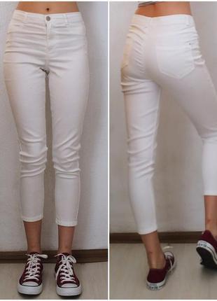 Белые джинсы скинни высокая посадка dorothy perkins