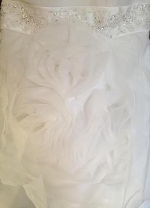 Короткое свадебное выпускное платье