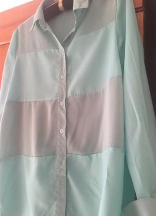 Женская бирюзовая блузка