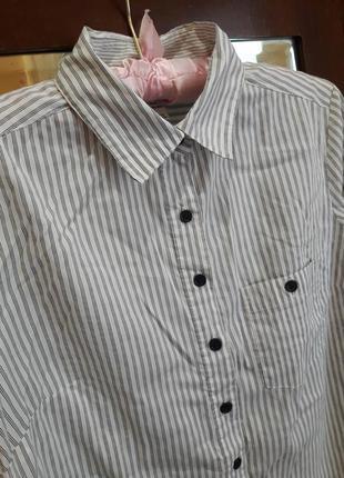 Модная рубашка в полоску h&m