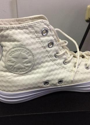 Convers кожаные белые