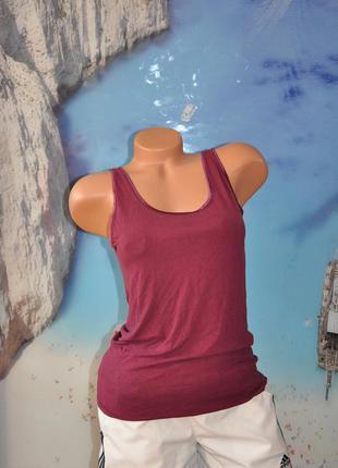 Красивая летняя маечка цвета марсала. 38-42 размер