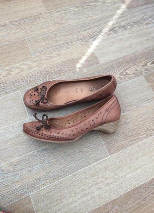 Кожаные босоножки туфли балетки gosoft