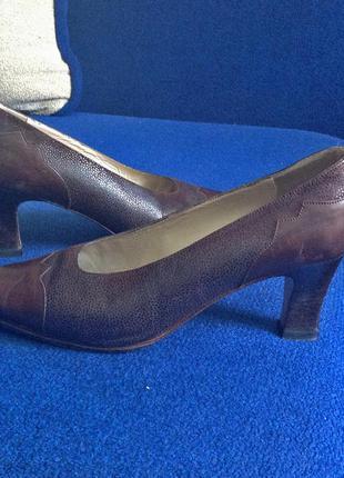 Кожанные итальянские туфли