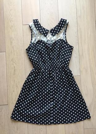 Короткое платье в горошек new look, размер xs