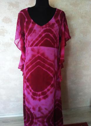 Классное платье в лиловый тонах размер 44-46