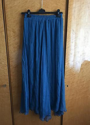 Длиная легкая юбка из органзы