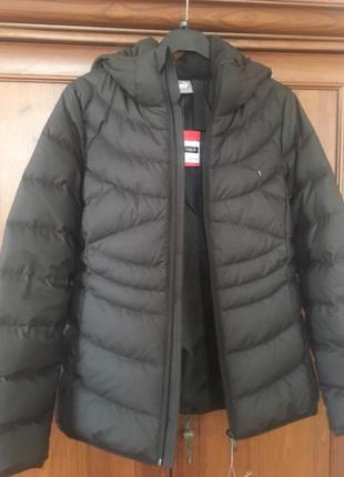 Продается пуховик puma ess 400 hooded down jacket w
