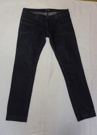 Темные синие джинсы стильные заниженная талия r.marks