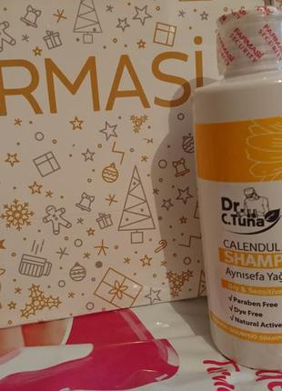 Шампунь для волос с маслом календулы dr.tuna calendula oil shampoo farmasi фармаси