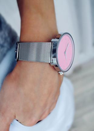 Новые часы,фото вживую,серебро с розовым,очень эффектные суперскидка!!!