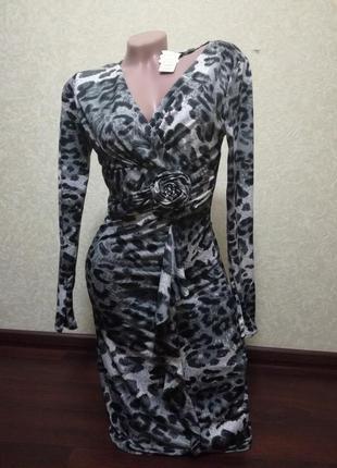 Платье леопардовое. распродажа1