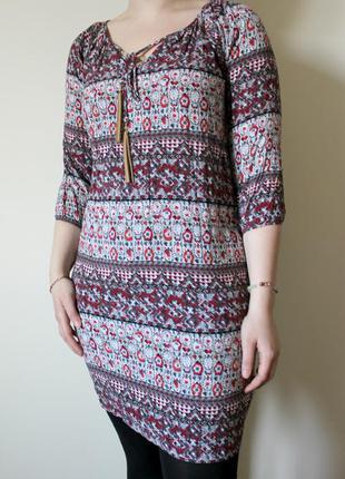 Этническое  платье  из вискозы atmosphere