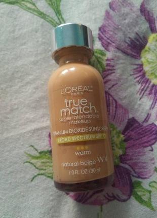 Тональный крем loreal paris true match natural beige w4