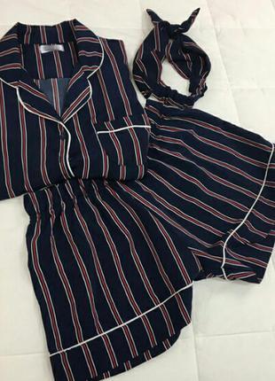 Пижама рубашка шорты комплект нижнее белье