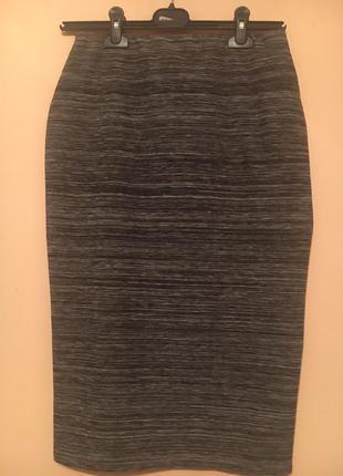 Модная  меланжевая серая юбка.