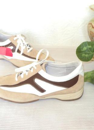 Фирменные кожаные кроссовки, 41 р (27 см)