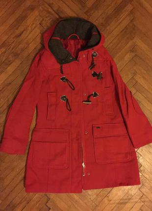Красное весеннее осеннее демисезонное пальто - бесплатная доставка уп