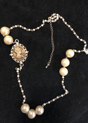 Ожерелье камея цепочка avon